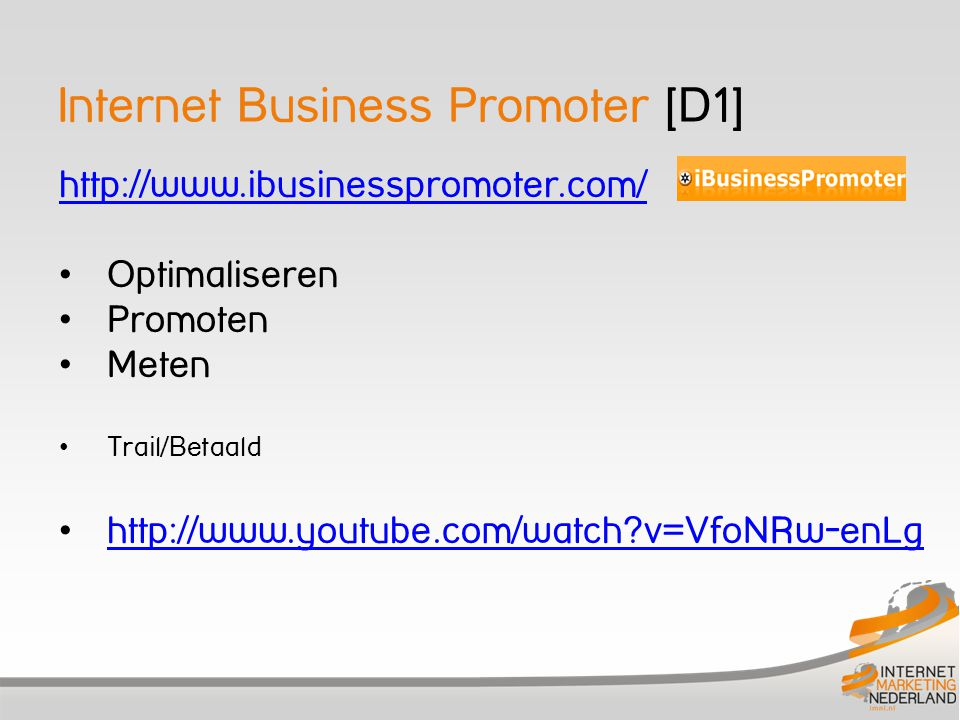 Internet Business Promoter [D1]